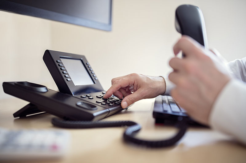 Hand dialling on landline phone